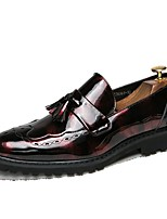 cheap -Men's Comfort Shoes Microfiber Fall & Winter Loafers & Slip-Ons Black / Red / Blue