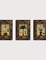 cheap -Framed Art Print Framed Set - Abstract Botanical PS Oil Painting Wall Art