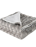 cheap -Bed Blankets, Solid Color Acrylic Fibers Comfy Blankets
