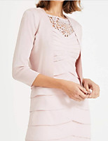cheap -3/4 Length Sleeve Polyester Wedding Women's Wrap With Ruching Shrugs