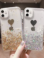 cheap -Case For Apple iPhone 11 / iPhone 11 Pro / iPhone 11 Pro Max Shockproof / Ultra-thin / Transparent Back Cover Heart / Transparent / Glitter Shine TPU