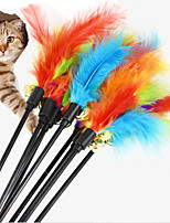 cheap -Teaser Feather Toy Dog Cat Pets Pet Toy 1pc Pet Friendly Mixed Material Gift