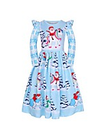 cheap -Kids Girls' Cartoon Dress Light Blue