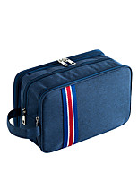 cheap -1pc Travel Organizer Cosmetic Bag Travel Toiletry Bag Large Capacity Multi layer Travel Storage Durable Solid Color Nylon For Portable Foldable Luggage