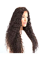 cheap -Synthetic Wig Curly Afro Curly Asymmetrical Wig Long Brown Synthetic Hair 27 inch Women's Best Quality Brown