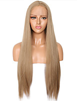cheap -Synthetic Lace Front Wig Straight Side Part Lace Front Wig Long Flaxen Synthetic Hair 18-26 inch Women's Soft Adjustable Party Blonde