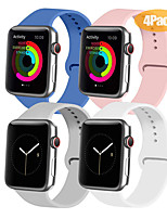 cheap -Watch Band for Apple Watch Series 4 / Apple Watch Series 3 / Apple Watch Series 2 Apple Sport Band Silicone Wrist Strap