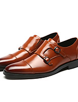 cheap -Men's Formal Shoes Leather Spring & Summer / Fall & Winter Business / Casual Loafers & Slip-Ons Breathable Black / Yellow / Red