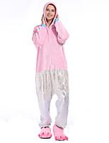 abordables -Adulte Pyjamas Kigurumi Murloc Combinaison de Pyjamas Flanelle Rose Cosplay Pour Homme et Femme Pyjamas Animale Dessin animé Fête / Célébration Les costumes / Collant / Combinaison