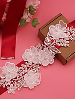 cheap -Satin Wedding / Party / Evening Sash With Appliques / Belt / Floral Women's Sashes