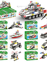 cheap -Building Blocks 423 pcs Military compatible Legoing Simulation Military Vehicle Tank Fighter All Toy Gift / Kid's
