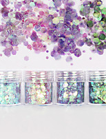 cheap -4 pcs Best Quality / No smell Plastics Sequins For Finger Nail Creative nail art Manicure Pedicure Party / Evening / Festival Stylish / Artistic