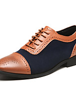 cheap -Men's Formal Shoes Faux Leather Spring & Summer / Fall & Winter Business / Casual Oxfords Breathable Black / Yellow / Blue