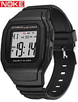 cheap -SYNOKE Digital Watch Digital Sporty Stylish Silicone 30 m Water Resistant / Waterproof Calendar / date / day LCD Digital Outdoor Fashion - Black black / gold Black / Silver