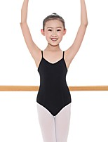 cheap -Kids' Dancewear Leotards Girls' Training Cotton / Spandex Gore Sleeveless Natural Leotard / Onesie