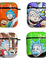 cheap -Case For AirPods Cute / Shockproof / Dustproof / Rick and Morty Headphone Case Soft