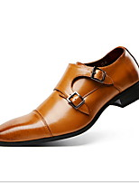 cheap -Men's Comfort Shoes PU Winter Loafers & Slip-Ons Booties / Ankle Boots Black / Brown