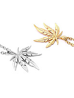 cheap -Men's Women's Pendant Necklace Geometrical Leaf Fashion Titanium Steel Gold Silver 50 cm Necklace Jewelry 1pc For Gift Daily