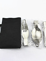 cheap -Camp Kitchen Utensil Organizer Travel Set Set Portable Wearable Durable for 1 person Stainless Steel Outdoor Camping / Hiking Traveling Picnic Black