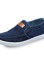 cheap -Men's Comfort Shoes Canvas Fall & Winter Loafers & Slip-Ons Black / Blue / Dark Blue