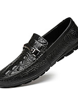 cheap -Men's Formal Shoes Cowhide Spring & Summer / Fall & Winter Casual / British Loafers & Slip-Ons Non-slipping Black