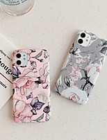 cheap -Case for Apple scene map iPhone 11 11 Pro 11 Pro Max X XS XR XS Max 8 Flower pattern frosted TPU material IMD craft phone case