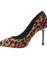 cheap -Women's Heels Stiletto Heel Pointed Toe Suede Fall & Winter Brown / Leopard