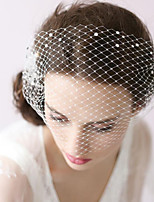 cheap -One-tier Classic Style / Lace Wedding Veil Blusher Veils with Solid / Pattern 23.62 in (60cm) POLY / Lace