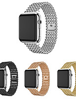 cheap -Band For Apple Watch 38mm 40mm 42mm 44mm Fashion Beads Style Stainless Steel Strap For Iwatch 1 2 3 4 5 Watchband Bracelet belt