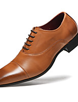 cheap -Men's Formal Shoes Faux Leather Spring & Summer / Fall & Winter Business / Casual Oxfords Breathable Black / Brown