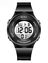 cheap -Men's Sport Watch Digital Modern Style Sporty Stainless Steel Black 50 m Water Resistant / Waterproof Chronograph Alarm Clock Digital Casual Outdoor - Black Orange Blue Two Years Battery Life
