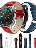cheap -Smartwatch Leat Band for watch GT 46mm / GT2 46mm / watch GT active / watch GT / honor magic /watch 2 pro sport Business Band High-end Fashion comfortable Leather Loop Genuine Leather Wrist Strap 22mm
