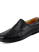 cheap -Men's Moccasin Leather Fall & Winter Loafers & Slip-Ons Black / Brown / Light Brown