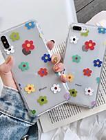 abordables -cas pour apple scène carte iphone 11 x xs xr xs max 8 motif fleuron haute transparent épaissi tpu matériel quatre coins tout compris étui pour téléphone portable