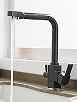 cheap -Kitchen faucet - Single Handle One Hole Painted Finishes Standard Spout Centerset Contemporary Kitchen Taps