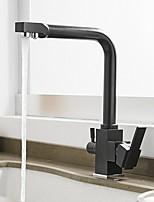 cheap -Kitchen faucet - Single Handle One Hole Painted Finishes Standard Spout Centerset Contemporary Kitchen Taps