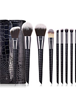 cheap -Professional Makeup Brushes 10pcs Professional Cute Full Coverage Adorable Comfy Artificial Fibre Brush Plastic for Eyeliner Brush Blush Brush Foundation Brush Makeup Brush Eyeshadow Brush