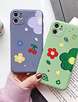 cheap -Case For Apple iPhone 11 / iPhone 11 Pro / iPhone 11 Pro Max Dustproof / Ultra-thin Back Cover Solid Colored / Cartoon / Flower TPU