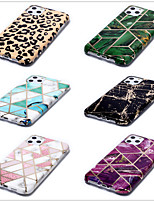 cheap -Case for Apple scene map iPhone 11 11 Pro 11 Pro Max XS Max XR XS stitching marble pattern thickened plating TPU material IMD process shiny all-inclusive mobile phone case
