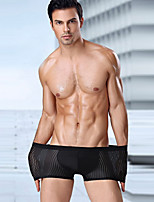 cheap -Men's Print Briefs Underwear Mid Waist Black L XL XXL