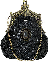 cheap -Women's Chain Polyester Evening Bag Black / Champagne / Silver