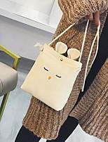 cheap -Women's Zipper Canvas Crossbody Bag Khaki