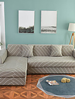 cheap -Geometric Grid Print Dustproof All-powerful Slipcovers Stretch L Shape Sofa Cover Super Soft Fabric Couch Cover with One Free Pillow Case