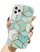 cheap -Case for Apple scene map iPhone 11 X XS XR XS Max 8 Electroplated rhombus colorful marble pattern four corners anti-fall all-inclusive mobile phone case
