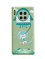 cheap -Case For Huawei Mate 30 / Mate 30 Pro Shockproof / Ultra-thin Back Cover Solid Colored / Animal / Cartoon TPU