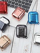 abordables -cas pour apple scène carte airpods 1/2 universel couleur pure mat tpu matériel étui souple bluetooth casque coque de protection