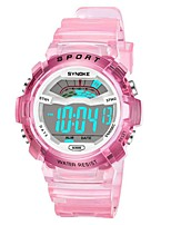 cheap -SYNOKE Digital Watch Digital Sporty Stylish Silicone 30 m Water Resistant / Waterproof Calendar / date / day LCD Digital Outdoor Fashion - White Blue Pink