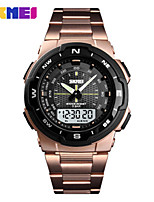 cheap -SKMEI Men's Digital Watch Digital Sporty PU Leather Black / Silver / Green 50 m Water Resistant / Waterproof Calendar / date / day Chronograph Analog - Digital Outdoor - Black Rose Gold Gold Two