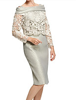 cheap -Long Sleeve Lace Wedding Women's Wrap With Lace / Lace-trimmed Bottom Basic