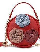 cheap -Women's Chain PU Evening Bag Floral Print Black / Blushing Pink / Orange